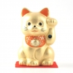 Gatto portafortuna Maneki neko color oro