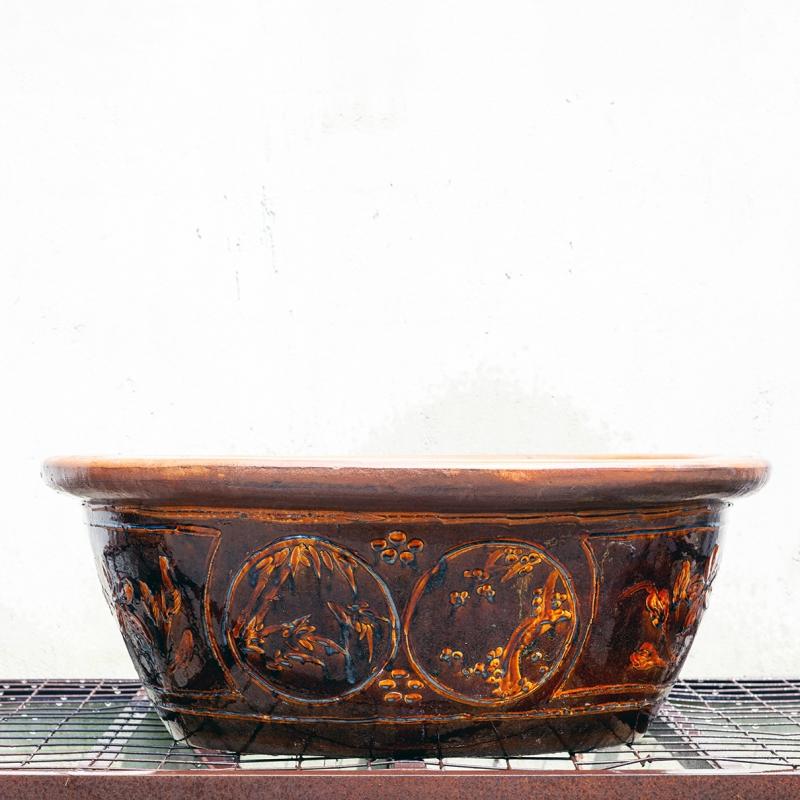 Stoneware water garden container 90 cm (01)