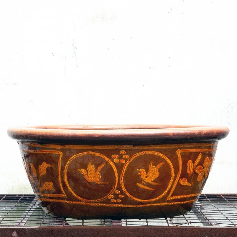 Stoneware water garden container 90 cm (02)