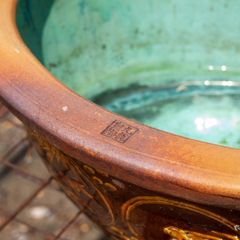 Stoneware water garden container 70 cm (06)