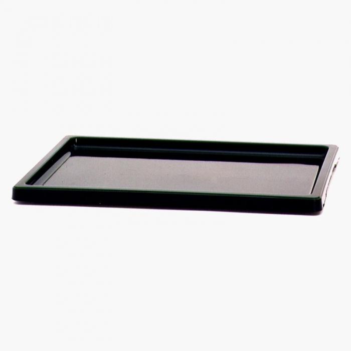 Sottovaso 22 cm rettangolare PVC nero