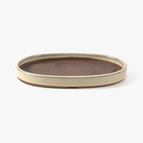 Sottovaso 22,3 cm ovale beige