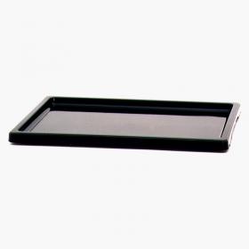 Sottovaso 34 cm rettangolare PVC nero