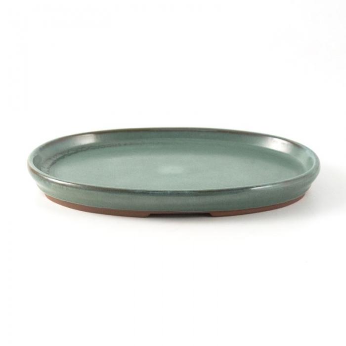 Suiban 21,5 cm ovale verde