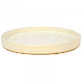 Suiban 22,5 cm tondo bianco