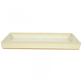 Suiban 34,3 cm rettangolare bianco