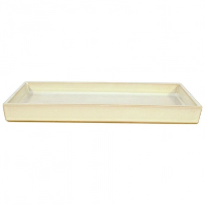 Suiban 36,8 cm rettangolare bianco