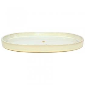 Suiban 41,3 cm ovale bianco