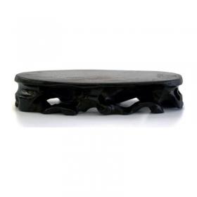 Tavolino ovale in legno - 16x9x3 cm