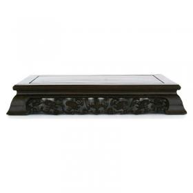 Tavolino rettangolare in legno - 38x23x7 cm