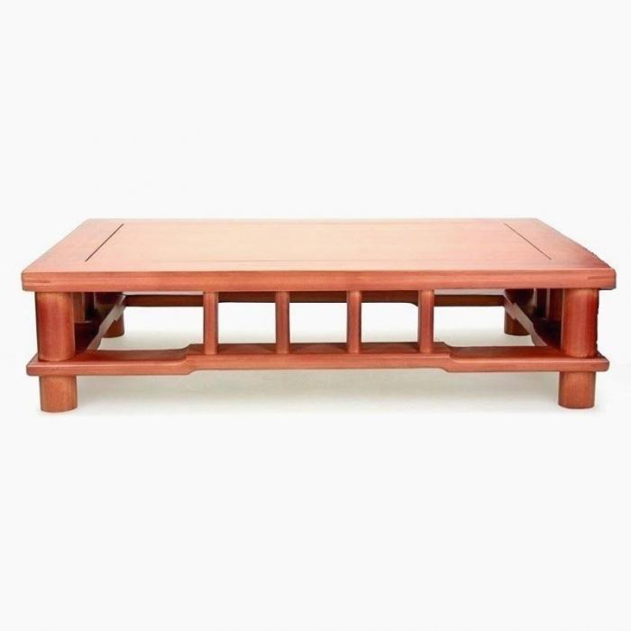 Tavolino rettangolare in legno - 55,5x36,5x14 cm