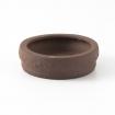 Pot 10 cm round unglazed brown