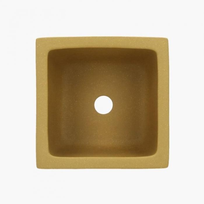Vaso 12,3 cm quadrato giallo