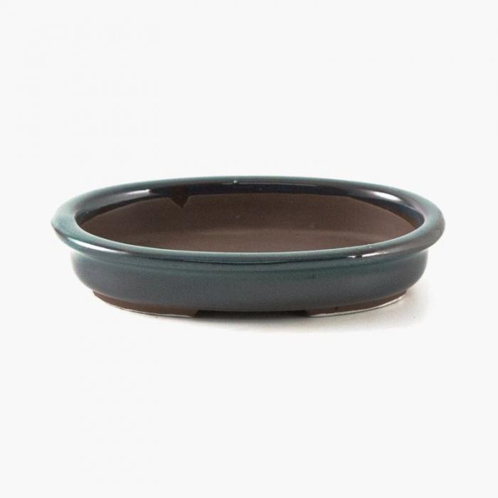 Vaso 15,5 cm ovale verde