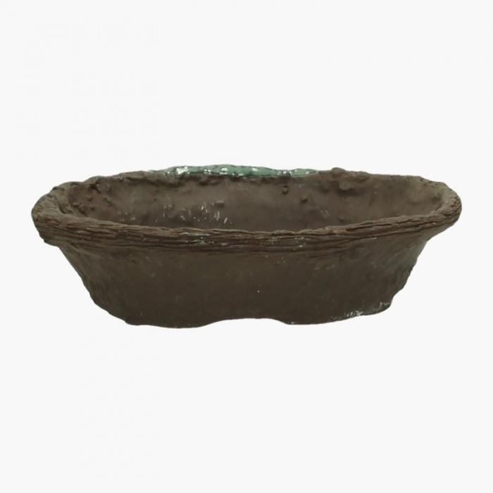 Vaso 16,5 cm ovale marrone