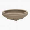 Pot 18 cm round grey