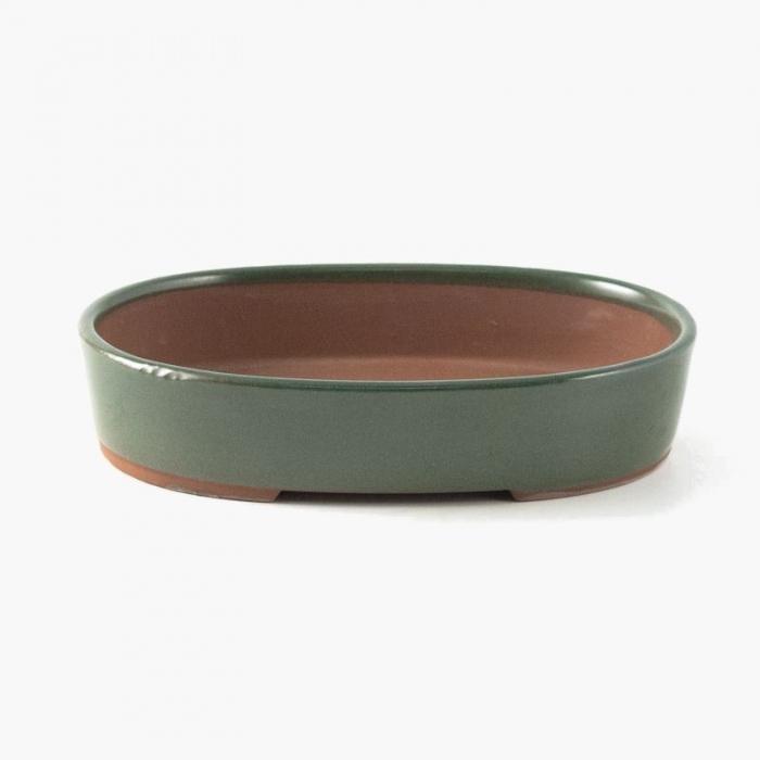Vaso 19 cm ovale verde