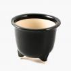 Vase 19 cm rond noir