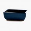 Pot 21 cm rectangulaire bleu