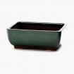 Pot 21 cm rectangular green