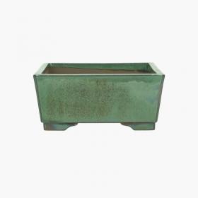 Vaso 21,5 cm quadrato verde