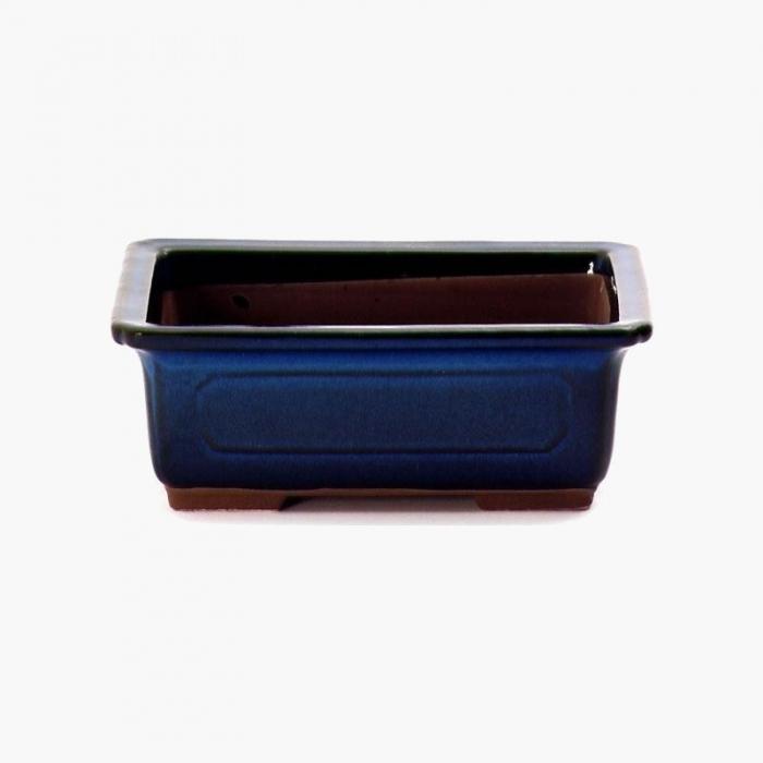 Vaso 22,5 cm rettangolare blu