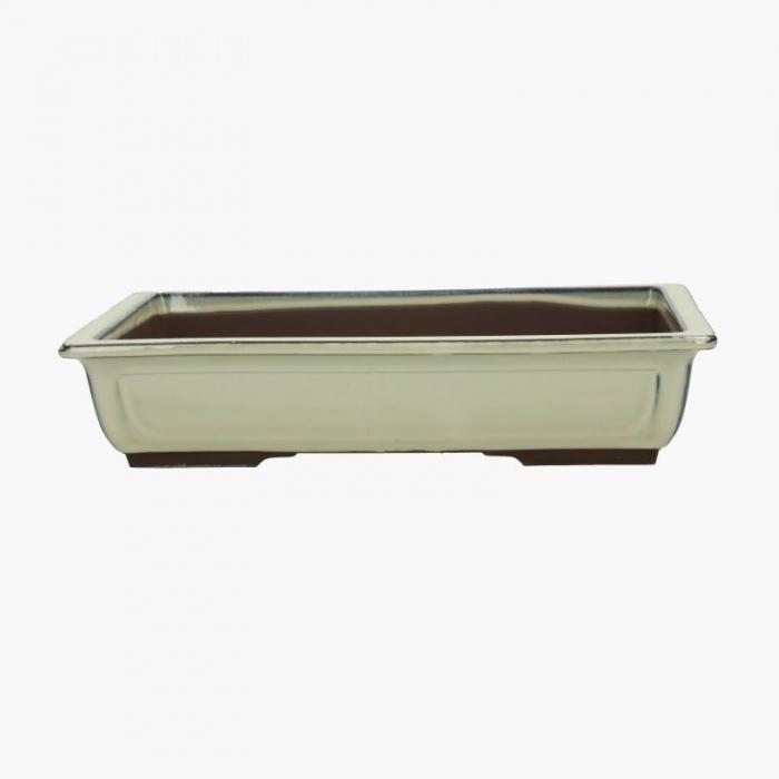 Vaso 23 cm rettangolare beige