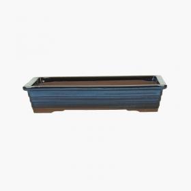 Vaso 23 cm rettangolare blu