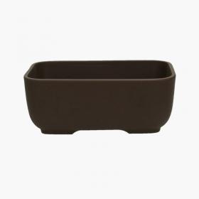 Vaso 24,5 cm rettangolare marrone
