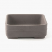 Pot 25 cm rectangulaire gris