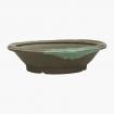 Pot 25,5 cm round brown