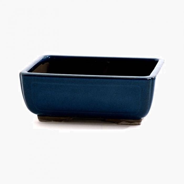 Vaso 26 cm rettangolare blu