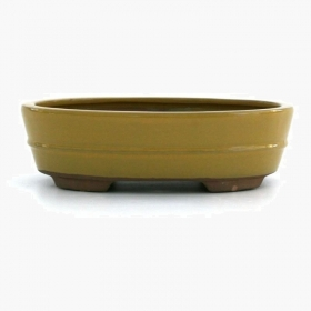 Vaso 31 cm ovale giallo