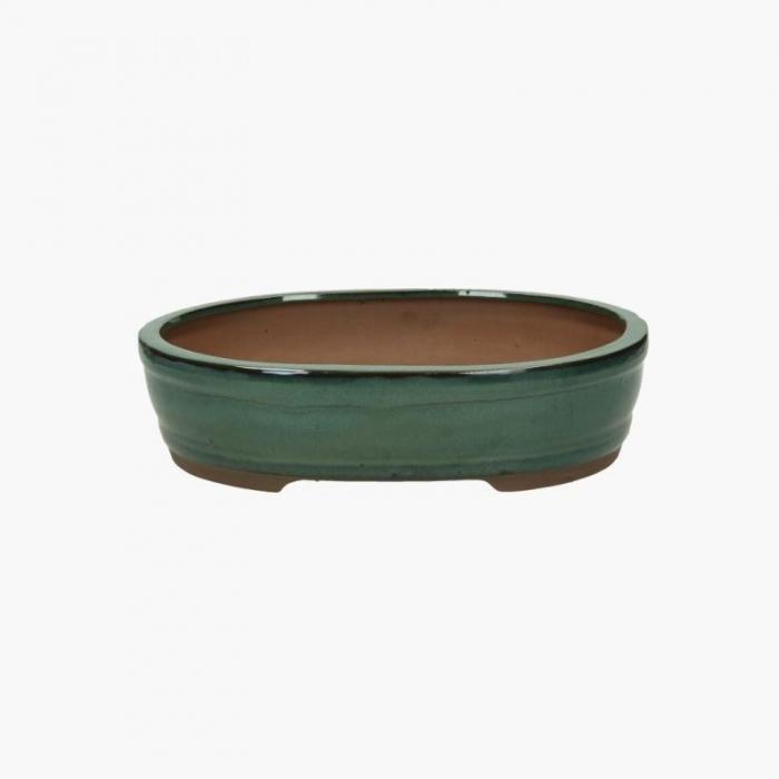 Vaso 31 cm ovale verde