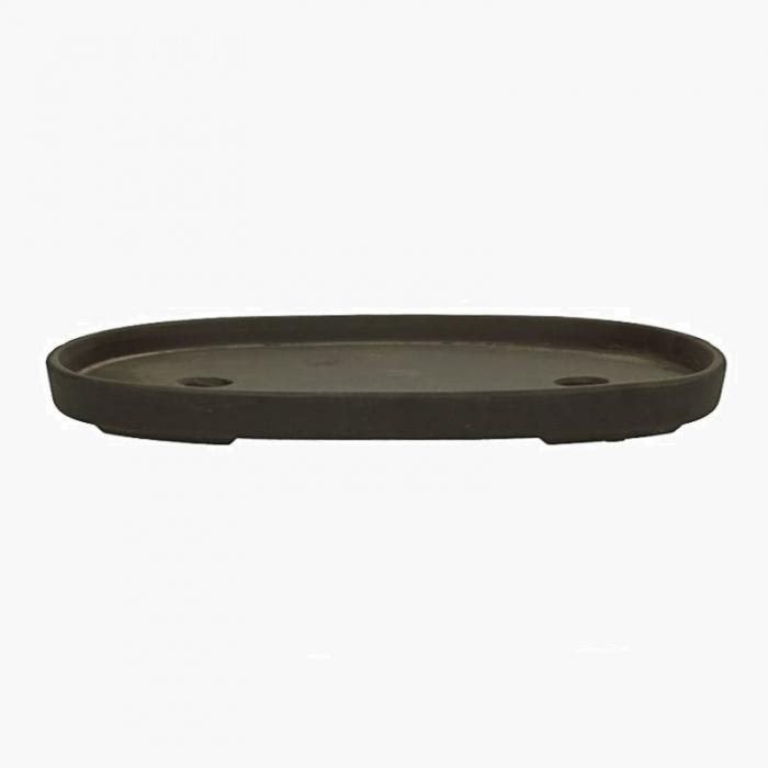 Vaso 31,5 cm ovale marrone