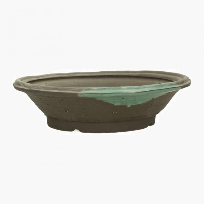 Vaso 32,5 cm tondo gres marrone