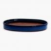 Pot 33 cm ovale bleu