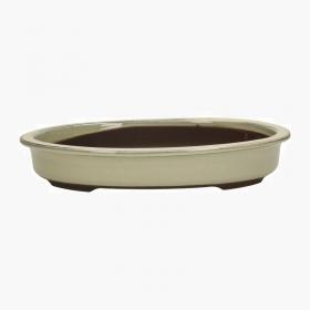 Vaso 35,5 cm ovale beige
