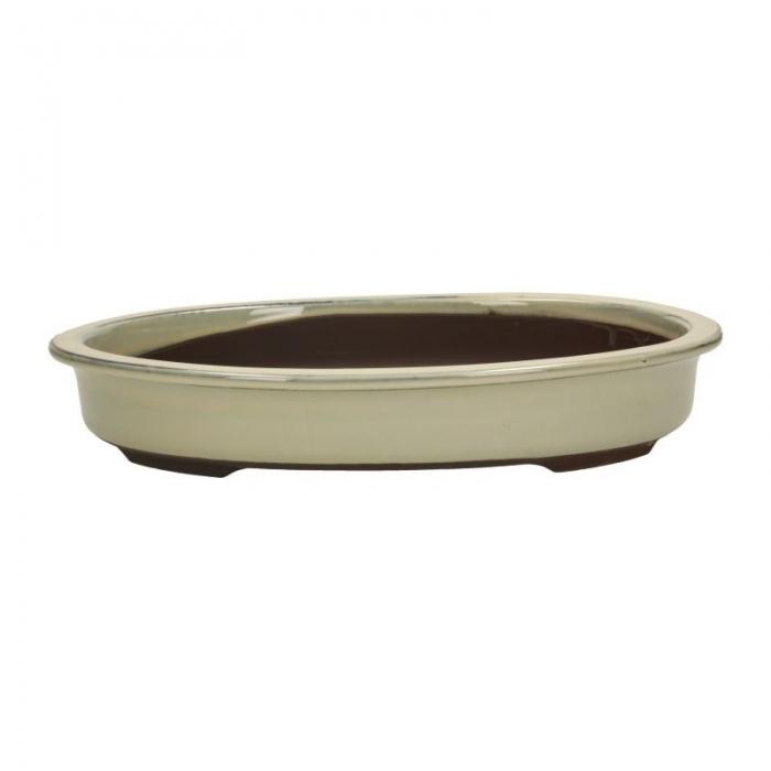 Vaso 39 cm ovale beige