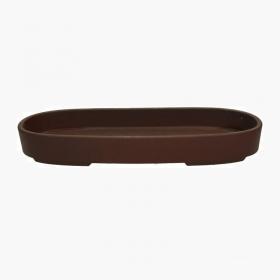 Vaso 39,5 cm ovale marrone