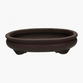 Vaso 46 cm ovale gres marrone