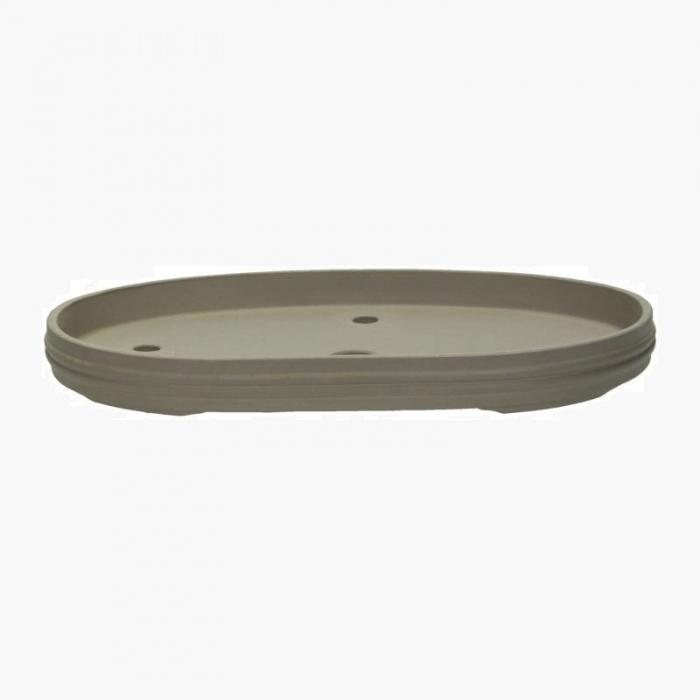 Vaso 46,5 cm ovale gres grigio
