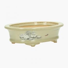 Vaso ovale 15 cm dipinto a mano