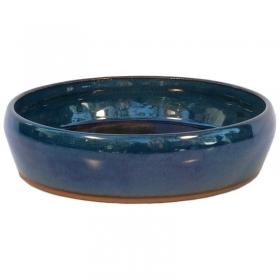Vaso per ikebana 18 cm tondo blu