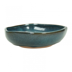 Vaso per ikebana 19,5 cm irregolare blu