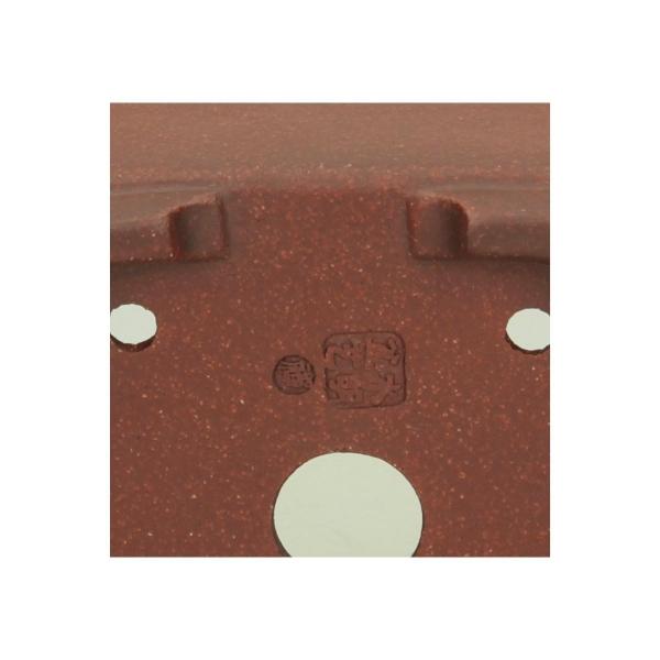 Vaso  8,5 cm quadrato gres marrone