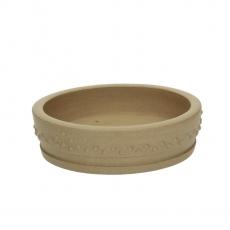 Pot 17 cm round gres
