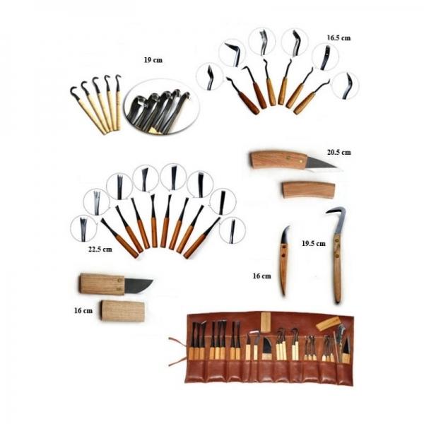 Set 25 attrezzi per lavorazione legno - Ryuga