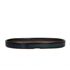 Saucer 22,3 cm oval beige