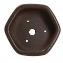 Pot 11,5 cm hexagonal grès - Shuiming